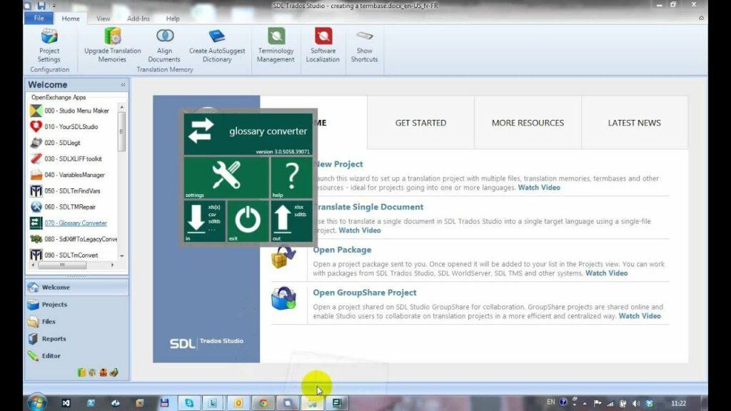 Glossary converter: plug-in per SDL trados studio